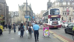 The street on the left leads to Grassmarket
