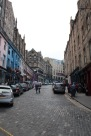 Looking up the street toward where the previous image was taken, away from Grassmarket