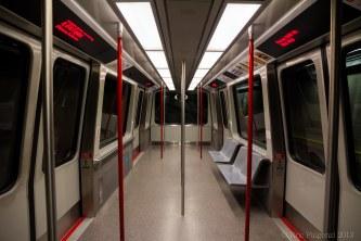 The empty tram in Seattle